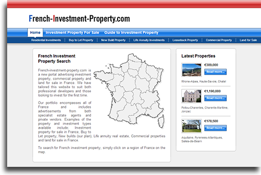 French Investment Property website