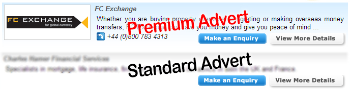 French-Property.com example services advert